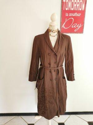Daite Trench Coat cognac-coloured-black brown
