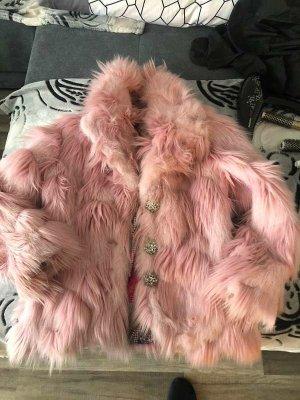 DAITE- Damen Winter Pelz Mantel Elegant Warm-Jacke- Kurz