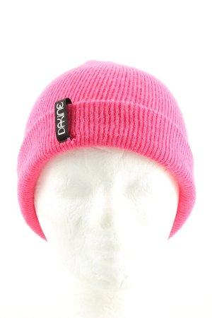 Dakine Chapeau en tricot rose style décontracté