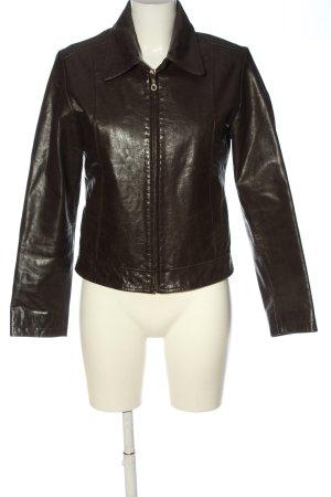 Dakota Leather Jacket brown casual look