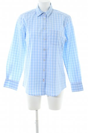 DAKS Signature Langarmhemd blau-weiß Allover-Druck Casual-Look