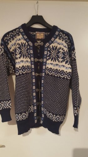 Dale of Norway Cardigan norvegese blu scuro-azzurro