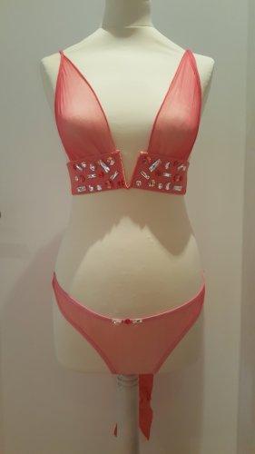 Set lingerie rosso chiaro