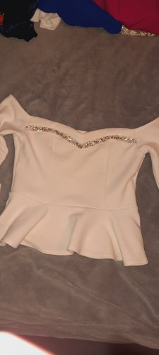 River Island Off the shoulder top wit Polyester