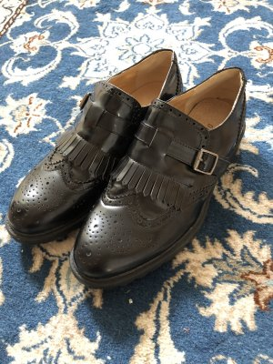 dame rose Wingtip Shoes black
