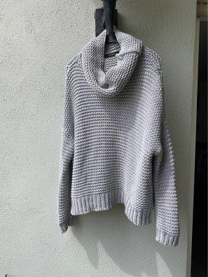 Vila Clothes Pull à gosses mailles gris clair