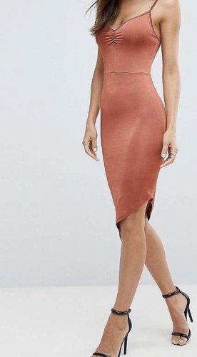 Asos Mini-jurk roodbruin