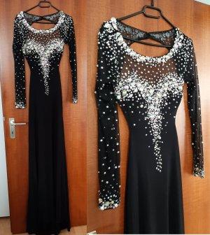 Damen Abendkleid Ballkleid Kleid NP 139,90 Tüll Strass Pailletten Perlen