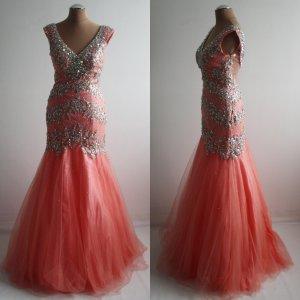 Damen Abendkleid Ballkleid Kleid NP 149,90 Tüll Spitze Strass Pailletten