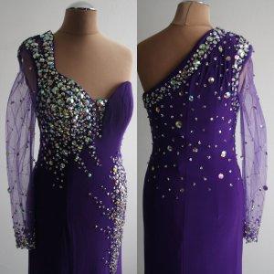 Damen Abendkleid Ballkleid Kleid NP 99,90 Tüll Strass Pailletten Perlen