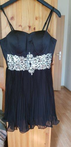 Bodyflirt Midi Dress black-silver-colored