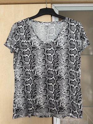 Damen Amisu Shirt T-Shirt Gr S 36 Print Schwarz Weiss wie Neu