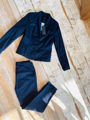 Zero Spodnie garniturowe ciemnoniebieski