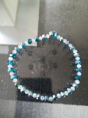 Kein Bracelet en perles blanc-gris ardoise