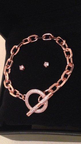 Damen-Armband und Ohrringe mit Kristallen von Swarovski® in Roségoldfarbe Neu!