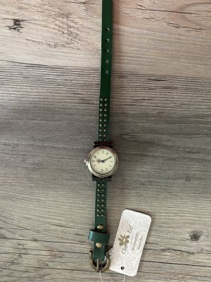 Clayre & Eef Analoog horloge donkergroen