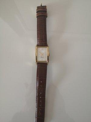 adc by Esprit Montre avec bracelet en cuir doré