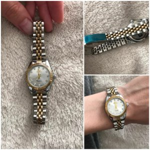 SmD Watch With Metal Strap silver-colored-gold-colored