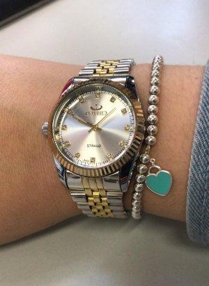 SmD Orologio con cinturino di metallo argento-oro
