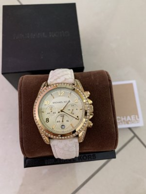 Damen-Armbanduhr Michal Kors Chronograph Quarz Leder MK5282
