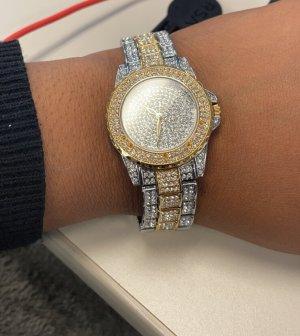 Damen Armbanduhr mit Zirkonia (NEU/UNÖFFENE)