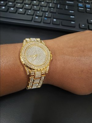 Damen Armbanduhr mit Zirkonia (NEU/UNÖFFENE) ☆VERSAND☆