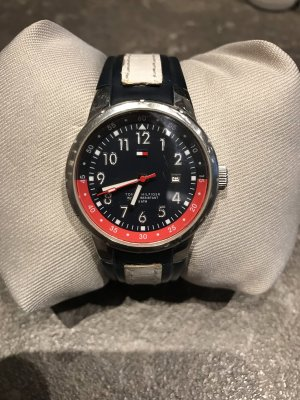 Tommy Hilfiger Watch With Leather Strap multicolored