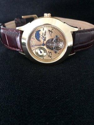 Damen Automatik Armband Uhr vergoldet