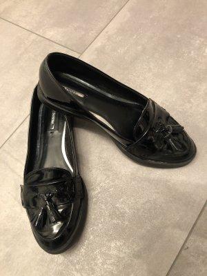 Bershka Ballerina di pelle verniciata nero