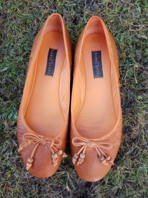 Ballerinas cognac-coloured-orange