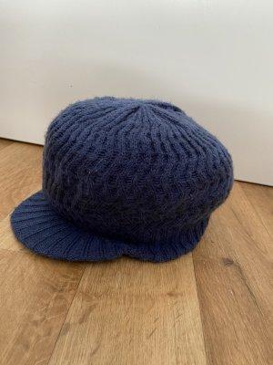 Cappello da panettiere blu acciaio-blu Tessuto misto