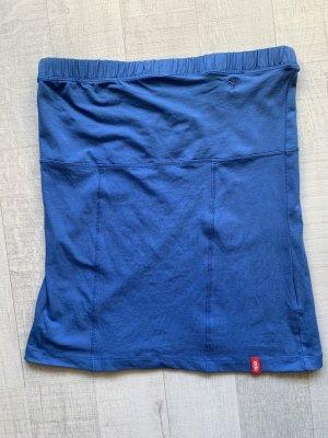 edc Top z dekoltem typu bandeau niebieski