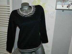 Damen Basic langarm Shirt in Doppeloptik Größe 38 (DD11)