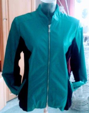 Damen Biker Jacke EDEL Leder-Look Gr.40 in Türkis/Schwarz NW