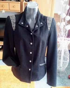 Damen Blazer Business Elegant Jersey Gr.38 in Grau/Silber NW