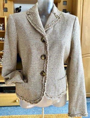 Damen Blazer Fransen Woll Jacke Gr.40 in Beige von Mexx NW