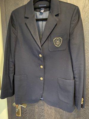 Damen Blazer GANT, dunkelblau, mit Logo und Goldknöpfen, Wolle, 38