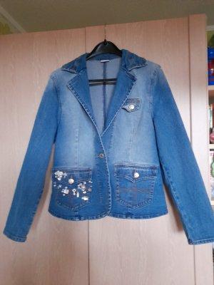 Together Blazer in jeans multicolore Cotone