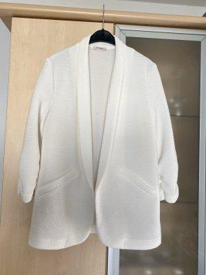 Orsay Blazer en jersey beige clair-blanc