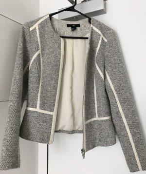 H&M Tweed Blazer multicolored cotton
