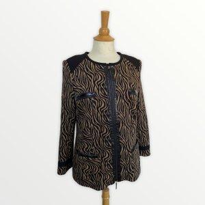 Basler Blazer in lana nero-marrone chiaro