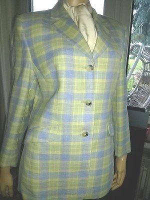 Damen-Blazer von Marcona-Gr.20 (= 40 K)- hellblau/gelb/beige