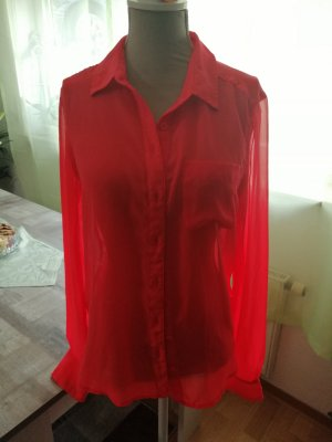 American Eagle Outfitters Blouse transparente magenta