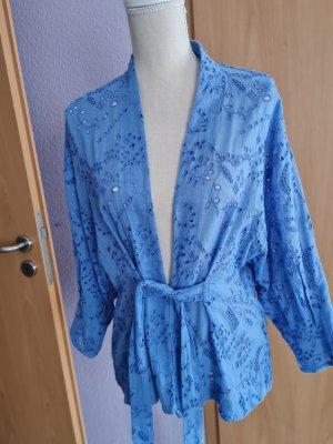 Zara Chemisier kimono bleu