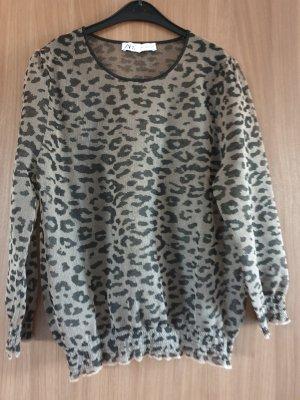 Zara Long Sleeve Blouse black-silver-colored