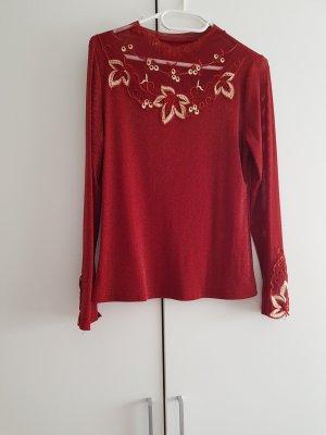 .Tessa Blusa in merletto rosso mattone