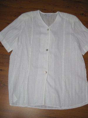 Damen Bluse / Damenbluse, weiß, Gr. 48