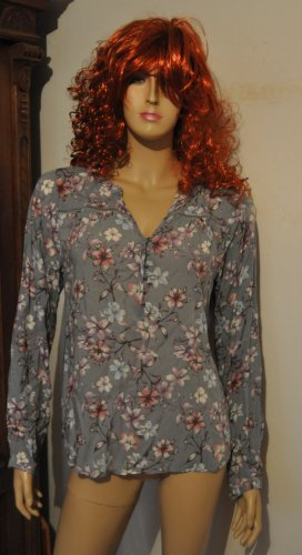 Blusa collo a cravatta multicolore Viscosa