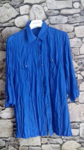 Blusa larga azul Poliéster