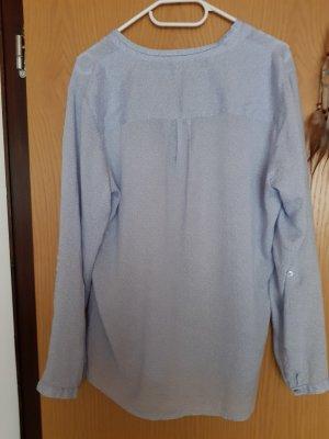 Charles Vögele Bluzka z długim rękawem biały-jasnoniebieski